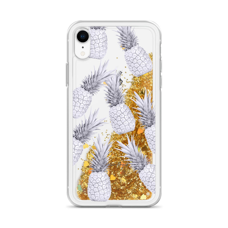 Pineapple Glitter iPhone Case Purple by Nature Magick