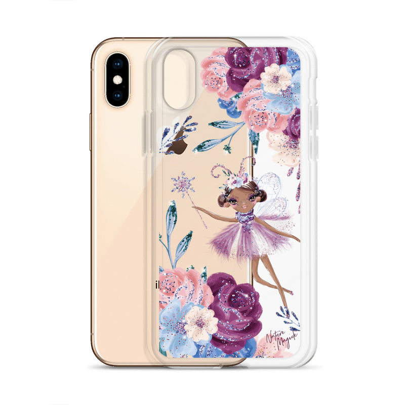 Clear Winter Fairy Floral iPhone Case by Nature Magick