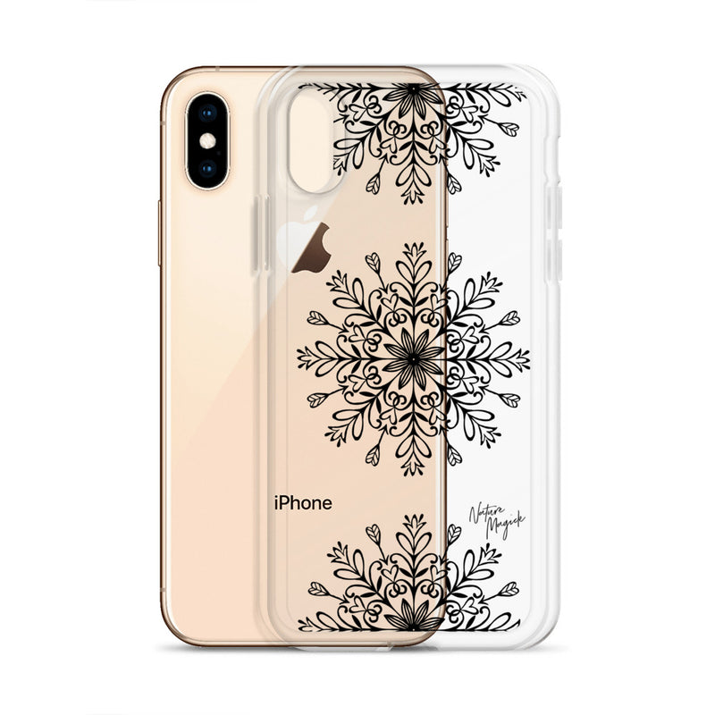 Clear Christmas iPhone Case Snowflakes by Nature Magick