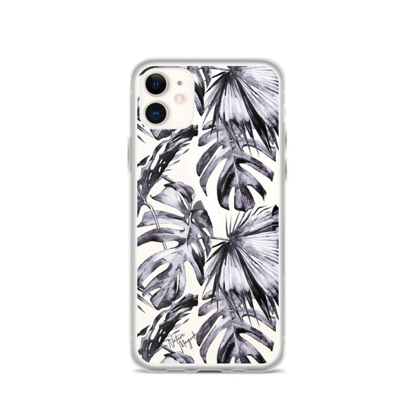 Clear Purple Palm Leaf iPhone Case by Nature Magick