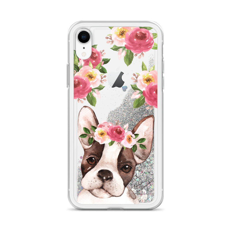 Boston Terrier Dog Glitter Phone Case for iPhone by Nature Magick