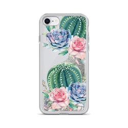Cactus Glitter iPhone Case by Nature Magick