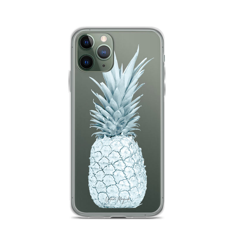 Clear Pineapple iPhone Case Turquoise Teal by Nature Magick