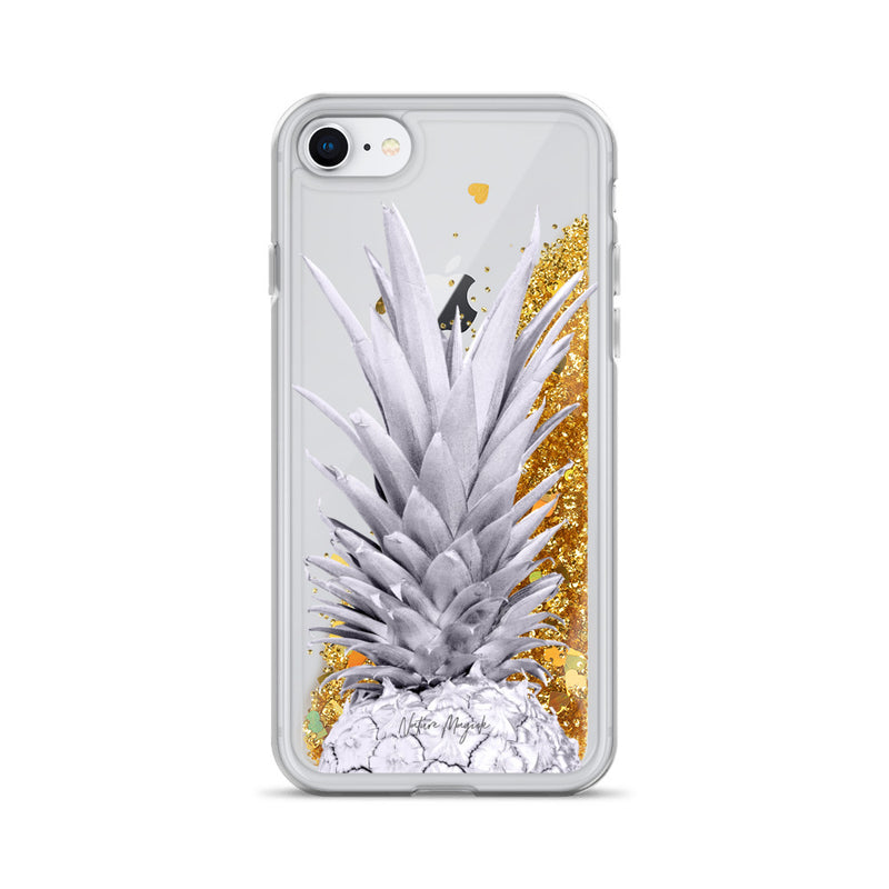 Pineapple Glitter iPhone Case Purple Top by Nature Magick