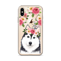 Siberian Husky Dog Glitter Phone Case for iPhone by Nature Magick