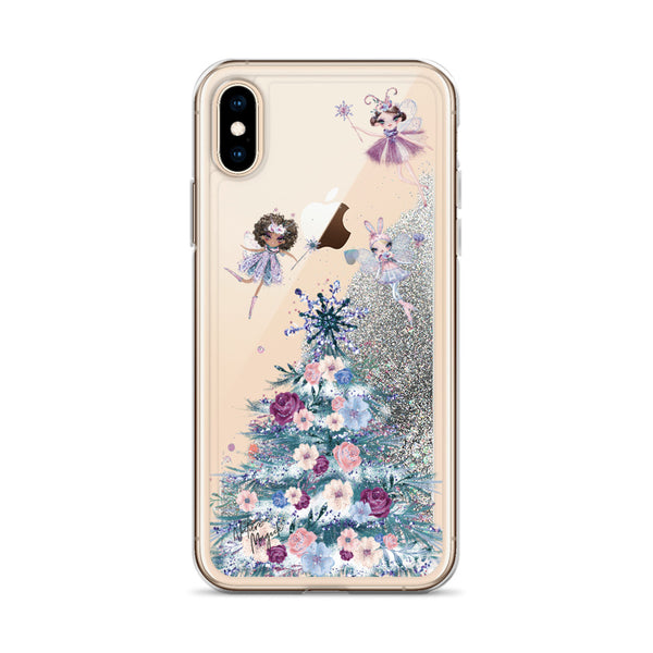 Christmas Tree Glitter iPhone Case Sugarplum Fairy by Nature Magick
