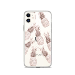 Clear Rose Gold Pineapple iPhone Case Luxury by Nature Magick
