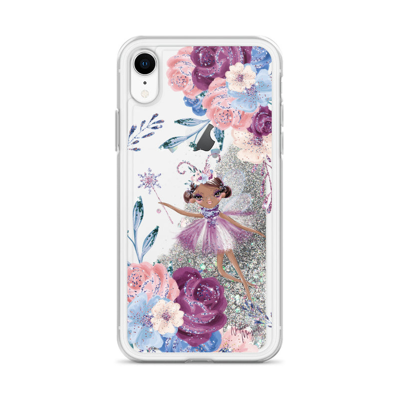 Winter Fairy Floral Glitter iPhone Case by Nature Magick
