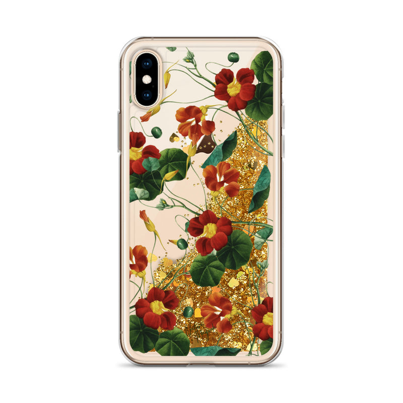 Vintage Floral Glitter iPhone Case Rose Pink Roses by Nature Magick