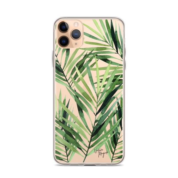 Clear Palm Leaf iPhone Case by Nature Magick