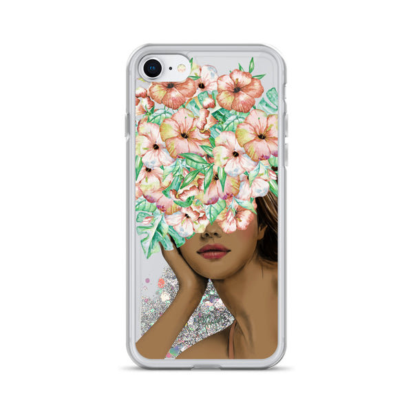 Fashion Girl Glitter iPhone Case by Nature Magick