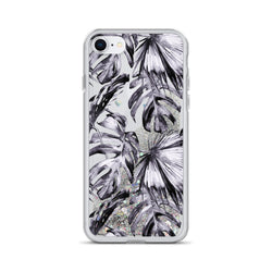 Purple Palm Leaf Glitter iPhone Case by Nature Magick