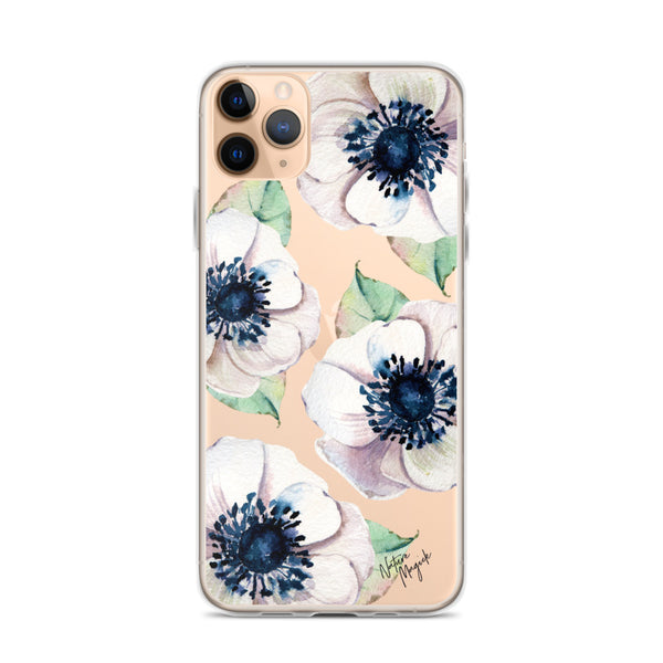 Clear Flower iPhone Case White Floral by Nature Magick