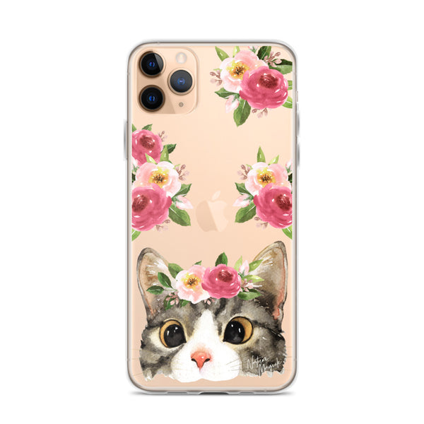 Clear Cute Cat Phone Case for iPhone by Nature Magick