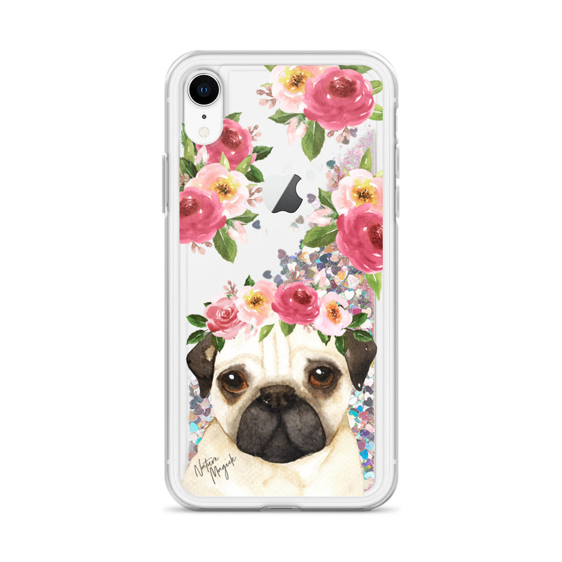 Pug Dog Glitter Phone Case for iPhone by Nature Magick