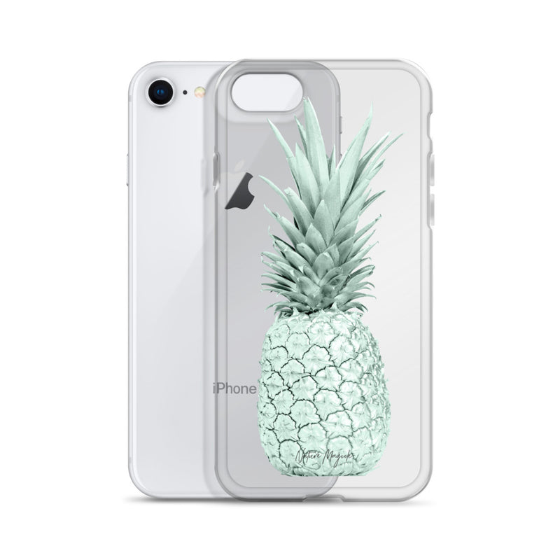 Clear Pineapple iPhone Case Pastel Green by Nature Magick