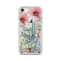 Cactus Glitter iPhone Case Pink by Nature Magick