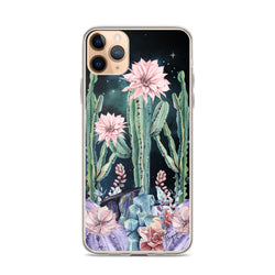 Cactus iPhone Case with Night Sky by Nature Magick