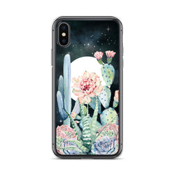 Moon Cactus Phone Case for iPhone by Nature Magick