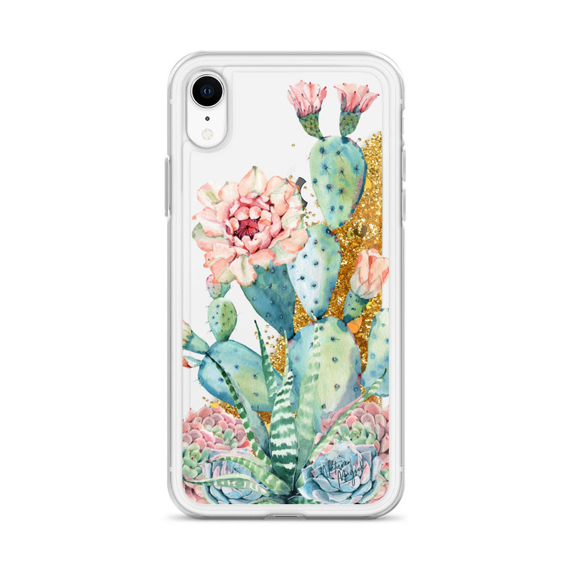Cactus Glitter Phone Case for iPhone by Nature Magick