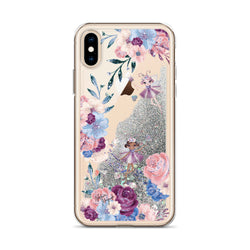 Winter Fairies Floral Glitter iPhone Case by Nature Magick