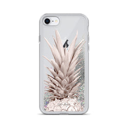 Rose Gold Pineapple Glitter iPhone Case by Nature Magick
