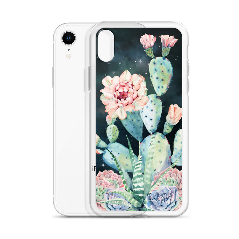 Cactus iPhone Case Night Sky Succulent by Nature Magick