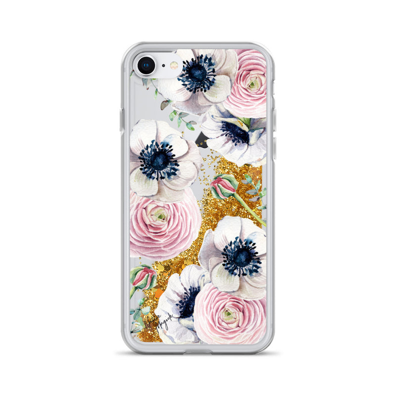 Flower Glitter iPhone Case Rose Blossom Love by Nature Magick