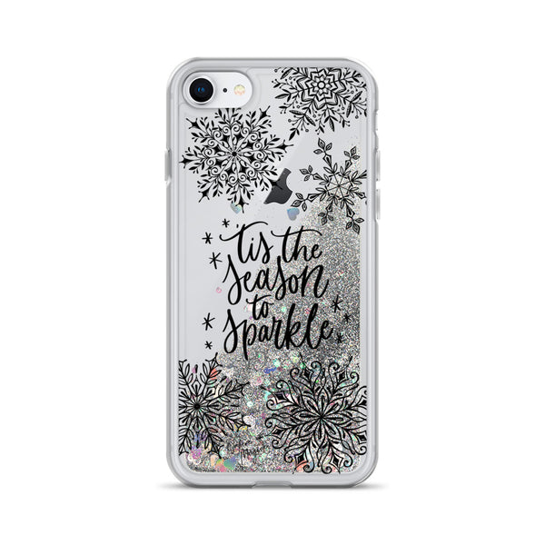 Christmas Glitter iPhone Case 'Tis the Season to Sparkle by Nature Magick