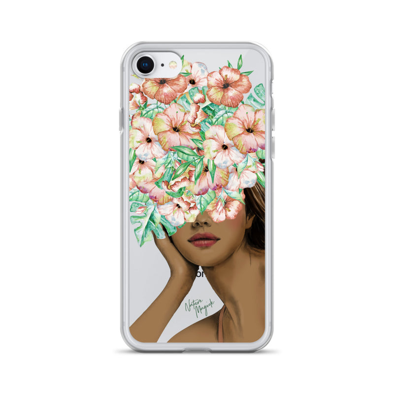 Clear Fashion Girl iPhone Case by Nature Magick