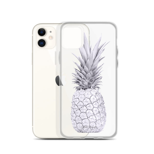 Clear Pineapple iPhone Case in Purple by Nature Magick