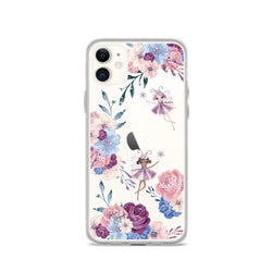 Clear Winter Fairies Floral iPhone Case by Nature Magick