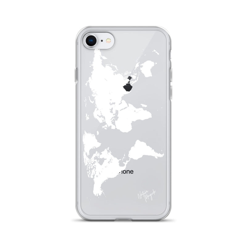 Clear World Map iPhone Case by Nature Magick in White