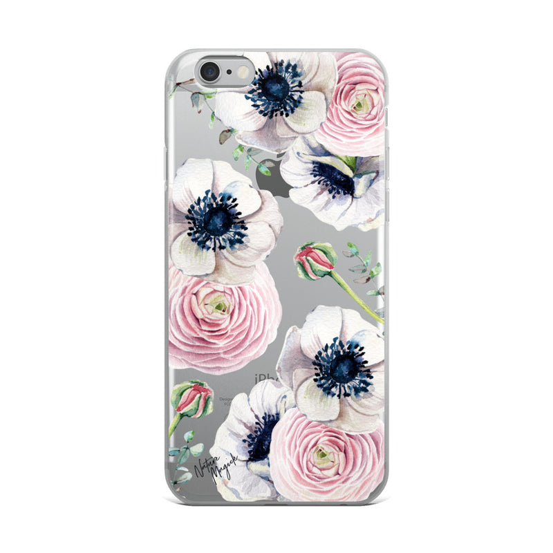 Clear Flower iPhone Case Rose Blossom Love by Nature Magick