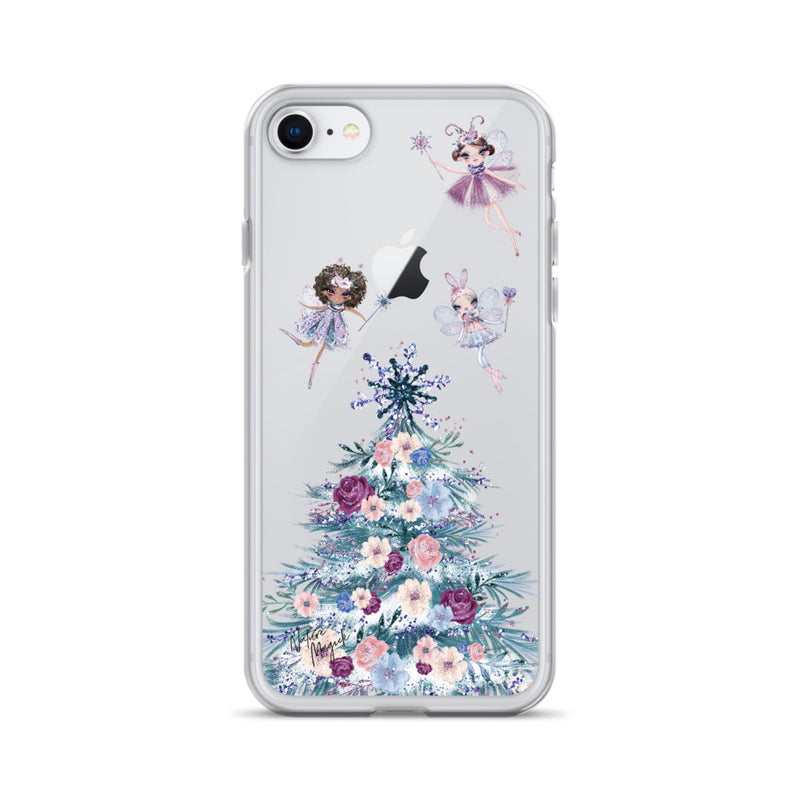 Clear Christmas Tree iPhone Case Sugarplum Fairy by Nature Magick