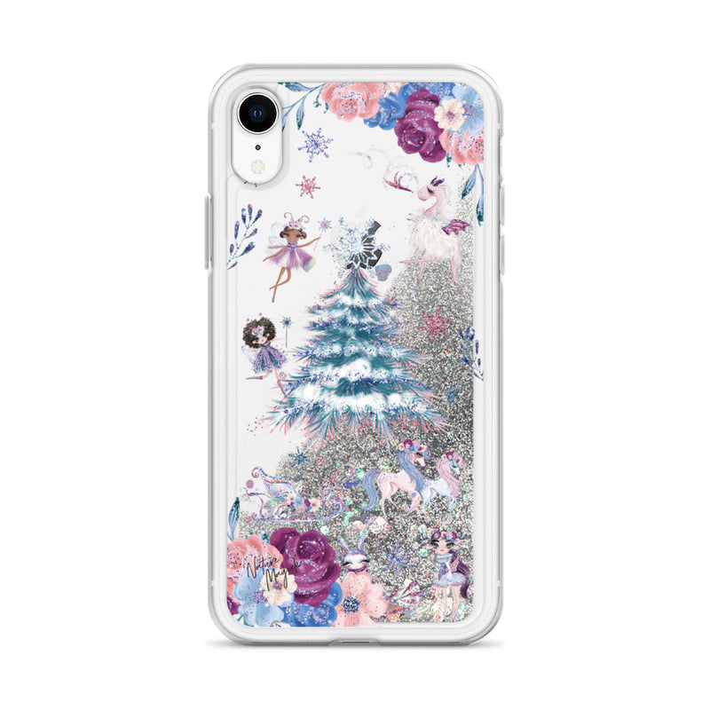 Christmas Tree Glitter iPhone Case in Sugarplum Fairy by Nature Magick