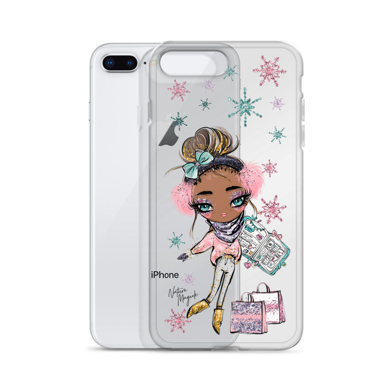 Clear Christmas iPhone Case Holiday Plans Girl by Nature Magick