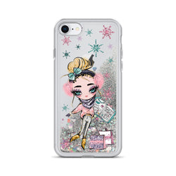 Christmas Glitter iPhone Case Holiday Plans Girl by Nature Magick