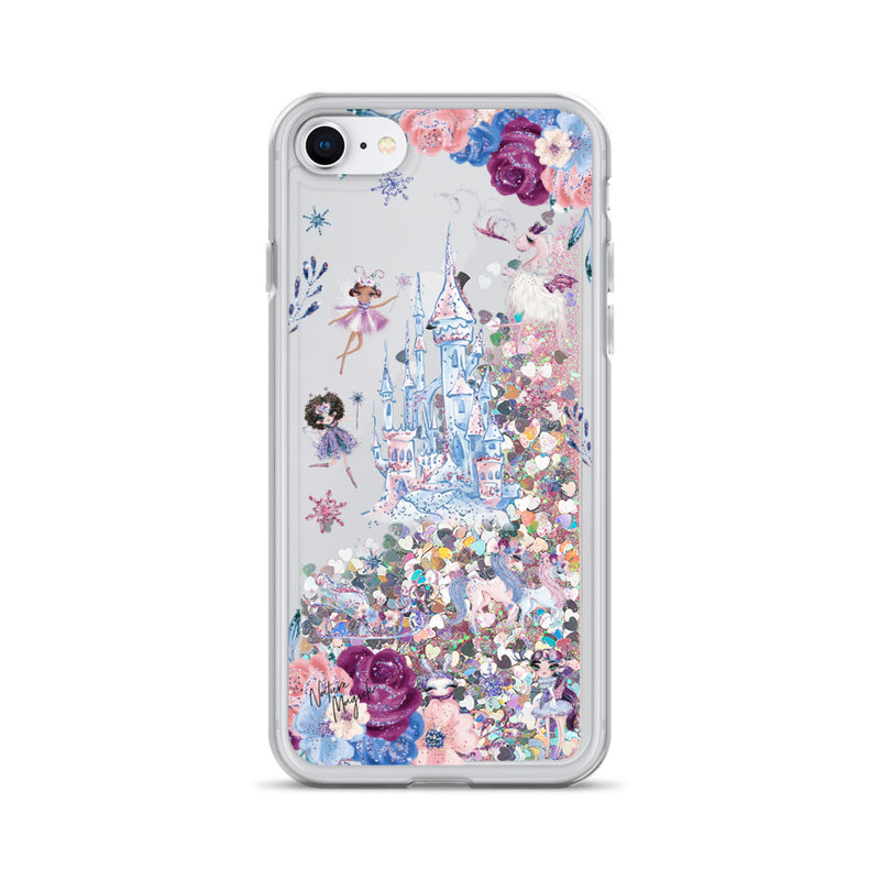 Fairy Tale Castle Glitter iPhone Case by Nature Magick