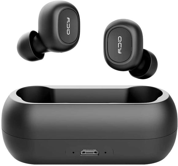 QCY T1 TWS True Wireless Bluetooth Bass Earphones BT5.0 - Black - My Gadgets World