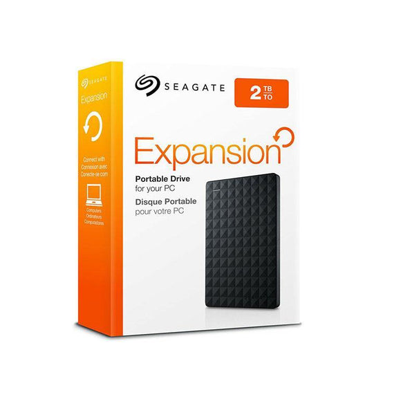 Seagate Expansion Portable External Hard Drive - 2TB Black - My Gadgets World