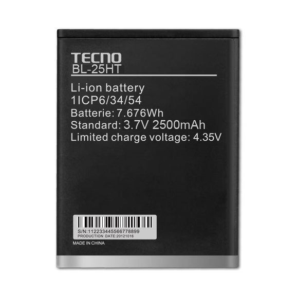 Tecno BL-25FT Replacement Battery for W3 Phone