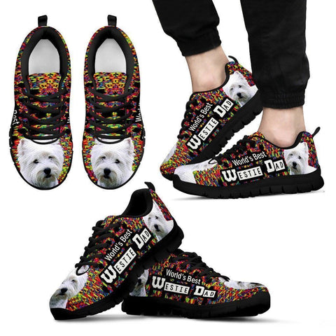'World's Best West Highland White Terrier Dad' Running Shoes-Father's Day Special-Paww-Printz-Merchandise