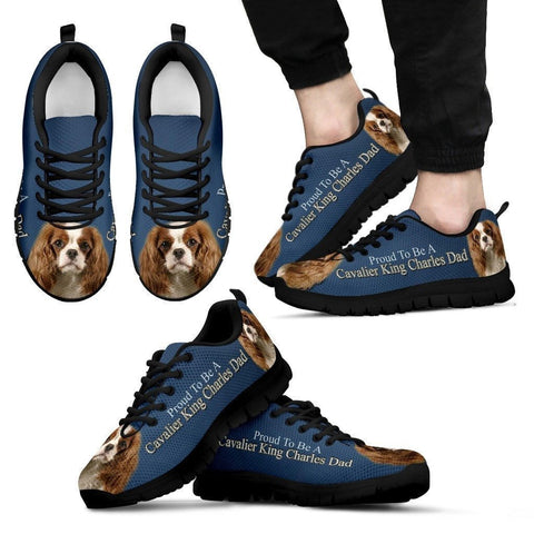 'Proud To Be A Cavalier King Charles Dad' Running Shoes-Father's Day Special-Paww-Printz-Merchandise