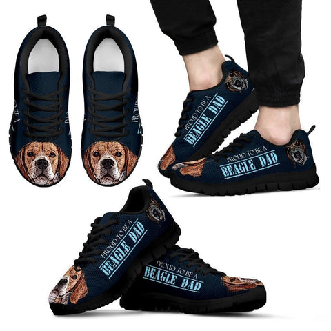 'Proud To Be A Beagle Dad' Sneakers For Men- Father's Day Special-Paww-Printz-Merchandise