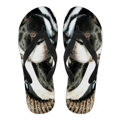 Boston Terrier Women's Flip Flops- Free Shipping-Paww-Printz-Merchandise