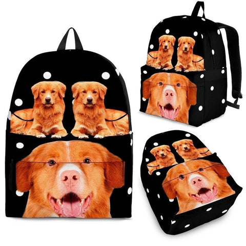 Nova Scotia Duck Tolling Retriever Print Backpack-Express Shipping-Paww-Printz-Merchandise