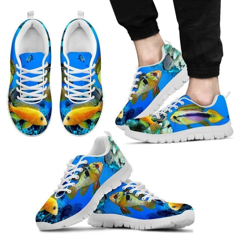 Dwarf Cichlid Fishes-Running Shoes For Men-Free Shipping Limited Edition-Paww-Printz-Merchandise