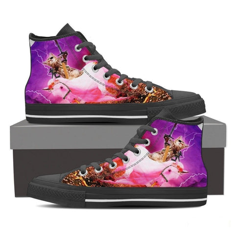 'Hero Cat' High Top Canvas Shoes-Free Shipping-Paww-Printz-Merchandise