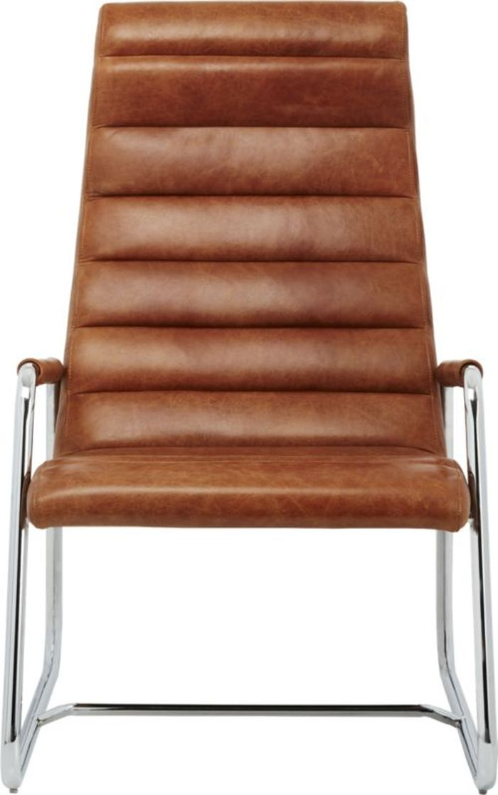 Cb2 Terreno Leather Chair Used Tribe
